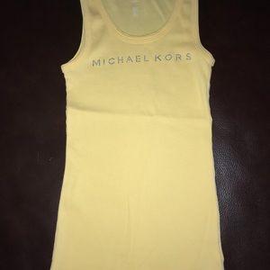 Michael Kors Canary Yellow Tank Top XS/S